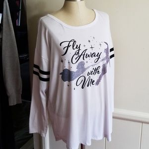 DISNEY PETER PAN WHITE TOP size 1X
